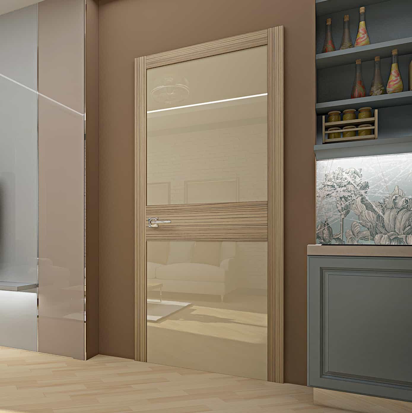 Межкомнатная дверь Crescendo Zebrano.