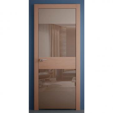 Межкомнатная дверь со вставками из стекла и шпона Crescendo Beech