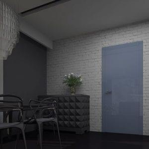 Межкомнатная дверь Glossify Diffusive Blue.