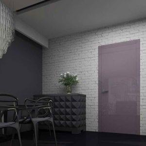 Межкомнатная дверь Glossify Windfield Purple в интерьере