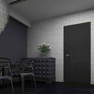 Межкомнатная дверь Glossify Total Black Rezident Design в интерьере