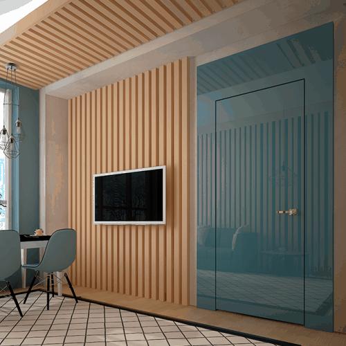 Дверной портал Rezident Design - Portal Tres Dimensiva фактуры Vitrum в интерьере