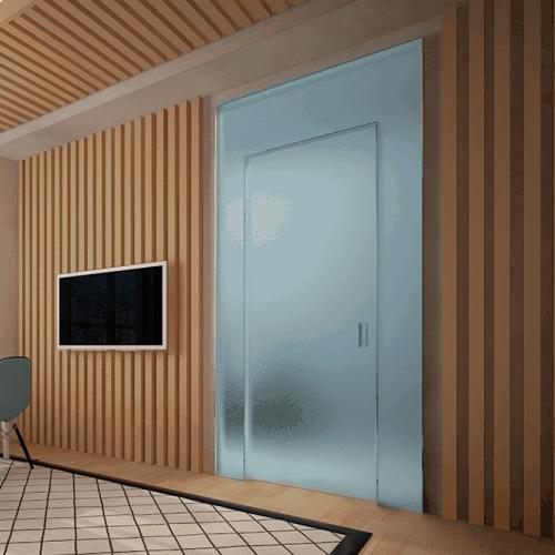 Дверной портал Rezident Design - Portal Tres Dimensiva стекло Velvet в интерьере