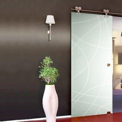 Межкомнатная стеклянная дверь G017
