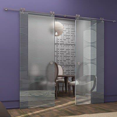 Межкомнатная стеклянная дверь G021