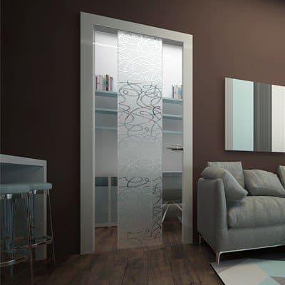 Межкомнатная стеклянная дверь G033