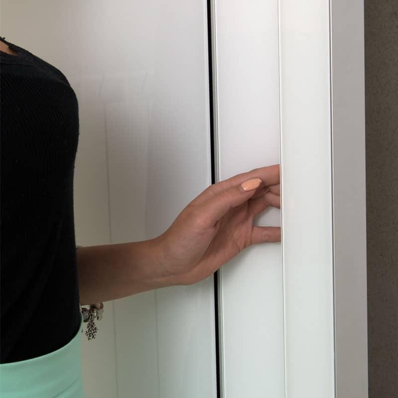 Скрытая врезная дверная ручка LD-SECRET-GRANDE. Крупный план