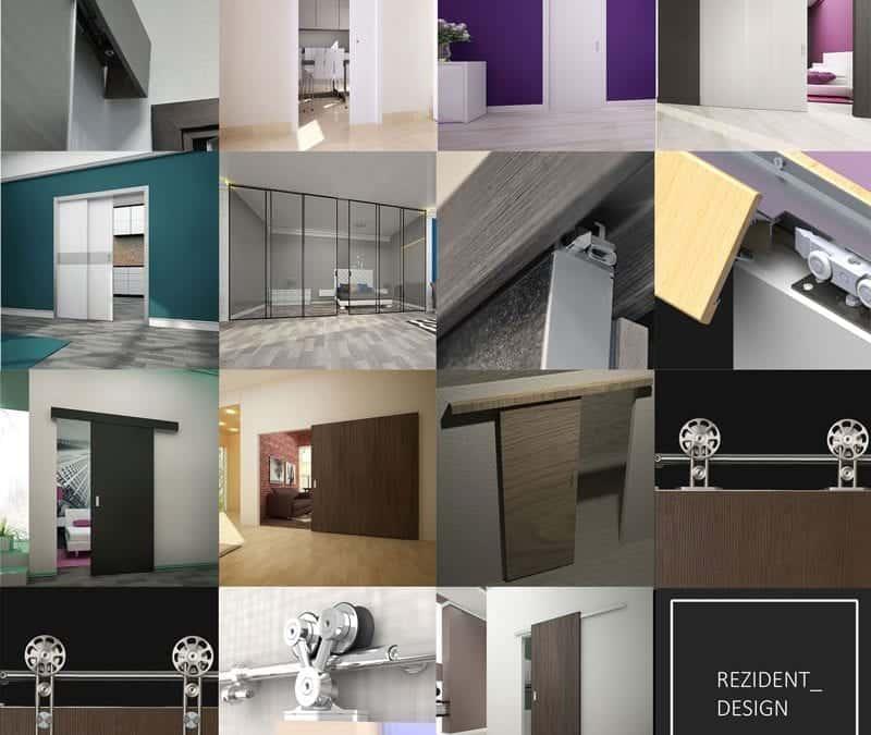Модельный ряд сдвижных систем REZIDENT для межкомнатных дверей