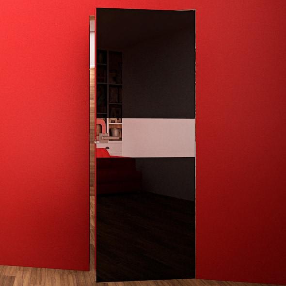 Межкомнатная дверь Crescendo Black. Приоткрытая дверь
