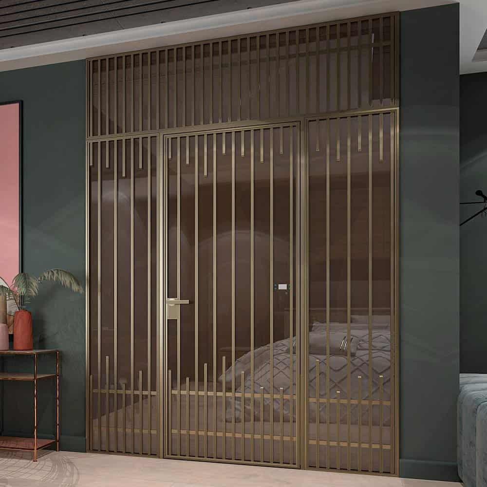Перегородка из стекла на алюминиевом каркасе Limerence Tip Rezident Design