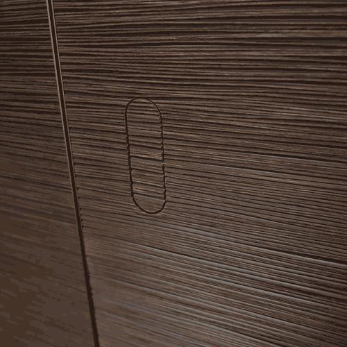 Скрытая врезная дверная ручка REZIDENT LD-SECRET в отделке 3D шпон