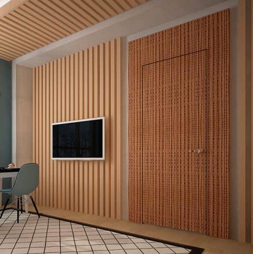 Дверной портал Rezident Design - Portal Tres Dimensiva фактуры Len в интерьере