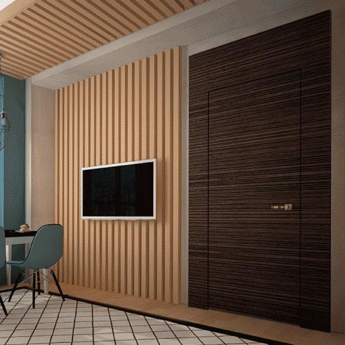 Дверной портал Rezident Design - Portal Tres Dimensiva фактуры Iva в интерьере