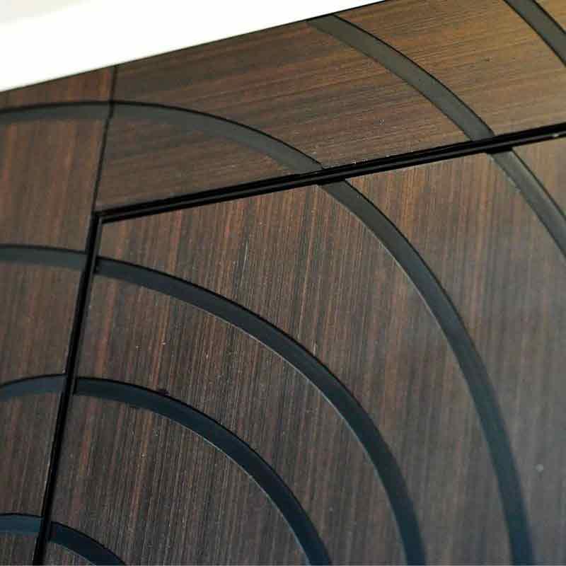 анельиз натурального древесного шпона с рельефным 3D узором.