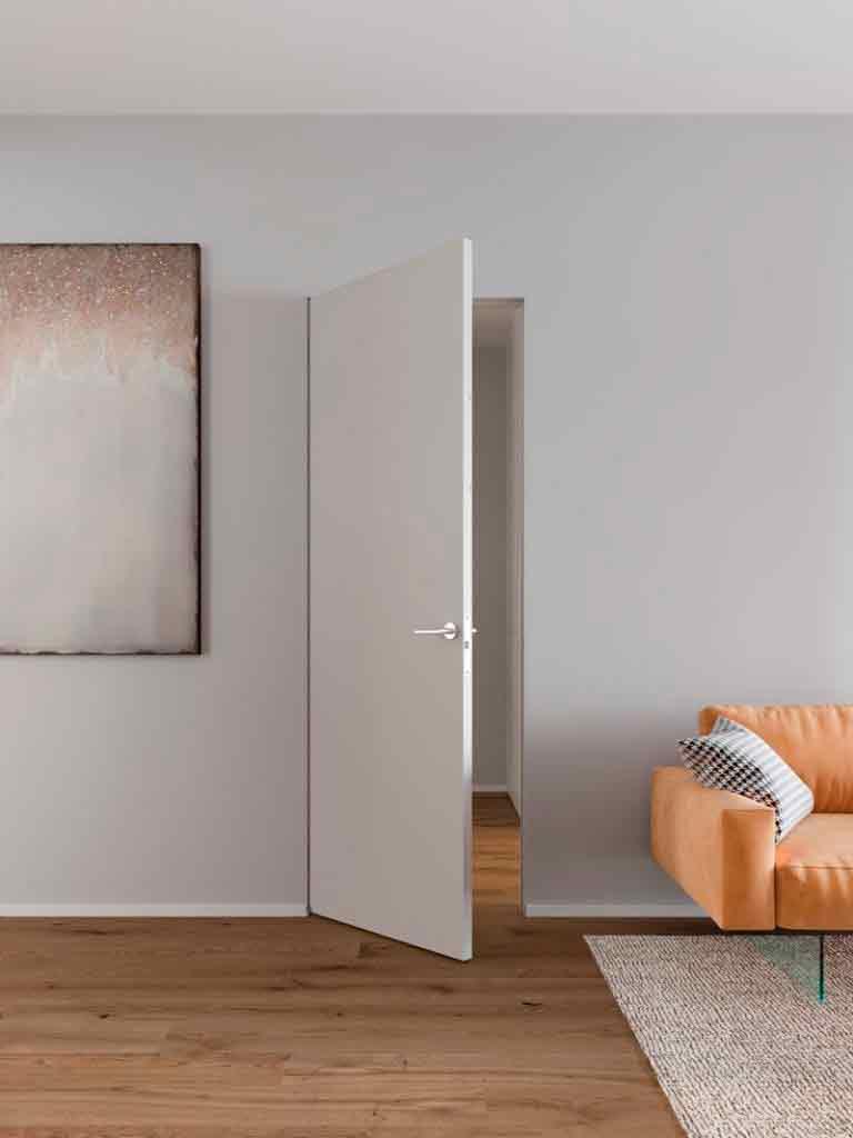 Скрытая межкомнатная дверь Rezident Design Selfartist Hidden.