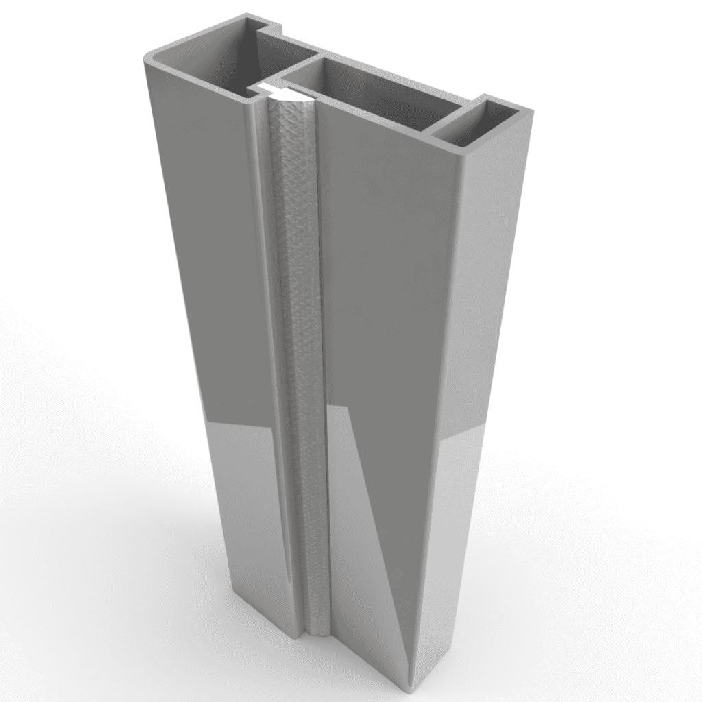 Дверная коробка с уплотнителем. Алюминиевый профиль